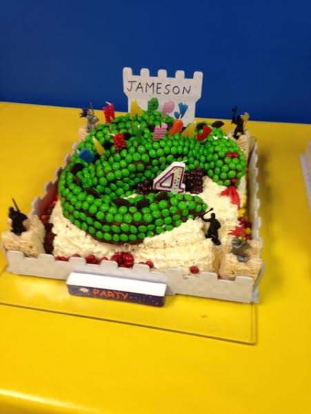 dragon birthday cake