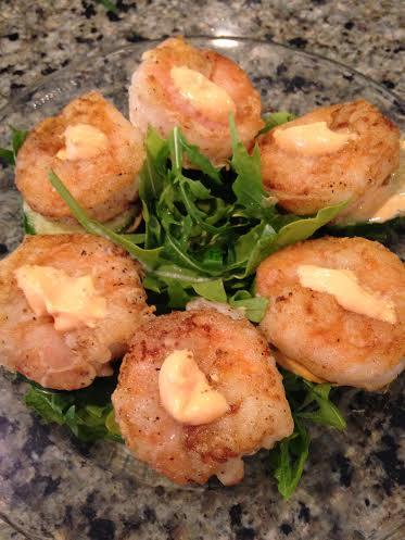 shrimp and cucumber cakes