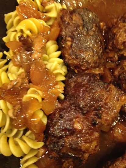 Baby Beef Braciole with Pasta