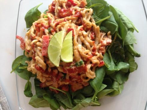 Peanut Udon Noodle Salad