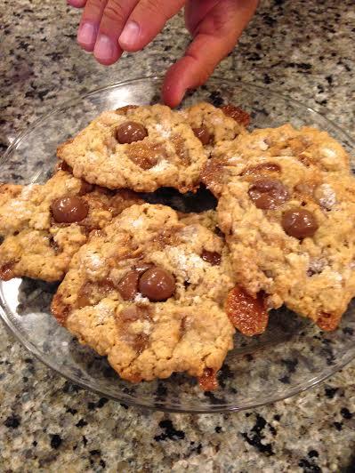 Salted Milk Dud caramel oatmeal cookies