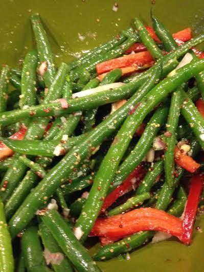 green beans in Dijon dressing