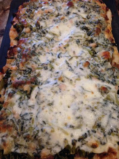 Sausage Rabe Pizza